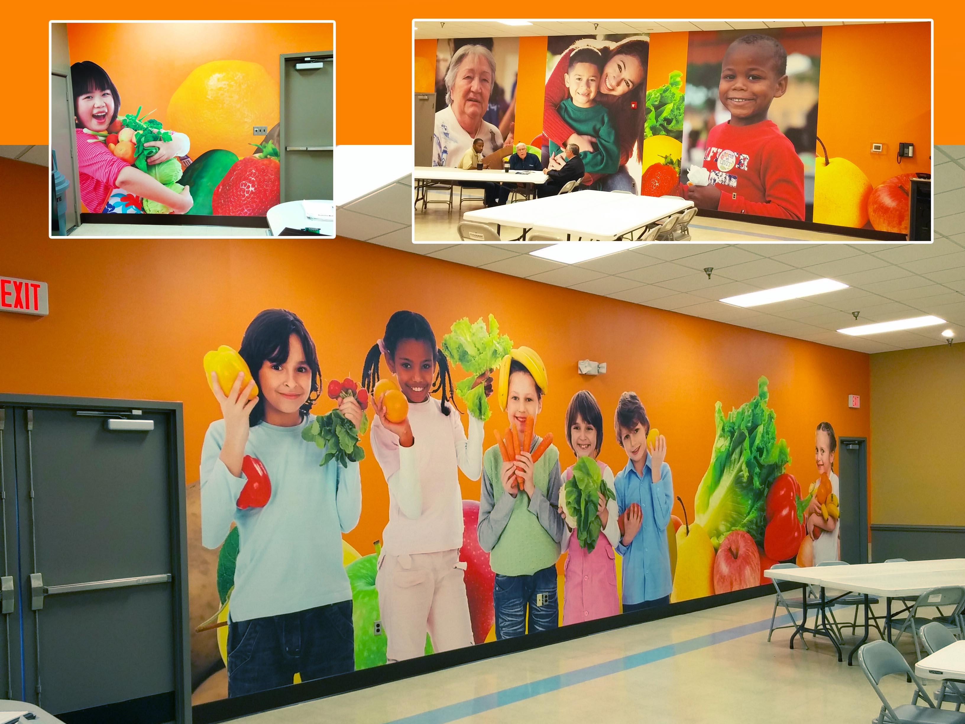 Foodbank of Southeastern Virginia wall murals