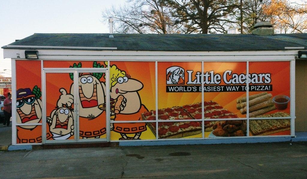 Little Caesars Window Graphics - Chesapeake, VA