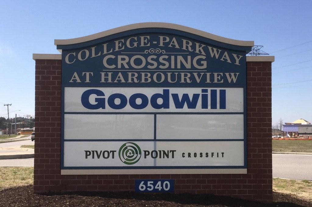 Pivot Point Crossfit backlit sign