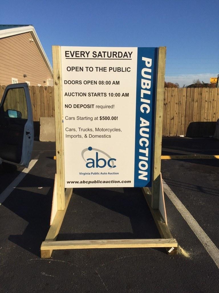 ABC Auction sign