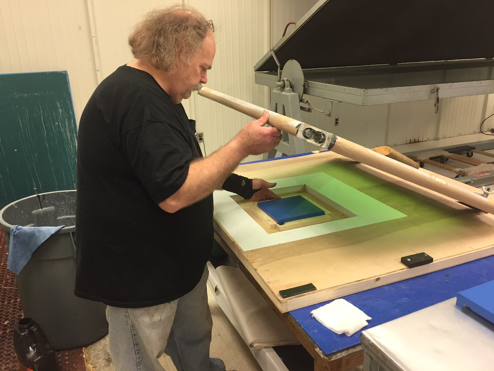 screen printing with epoxy ink