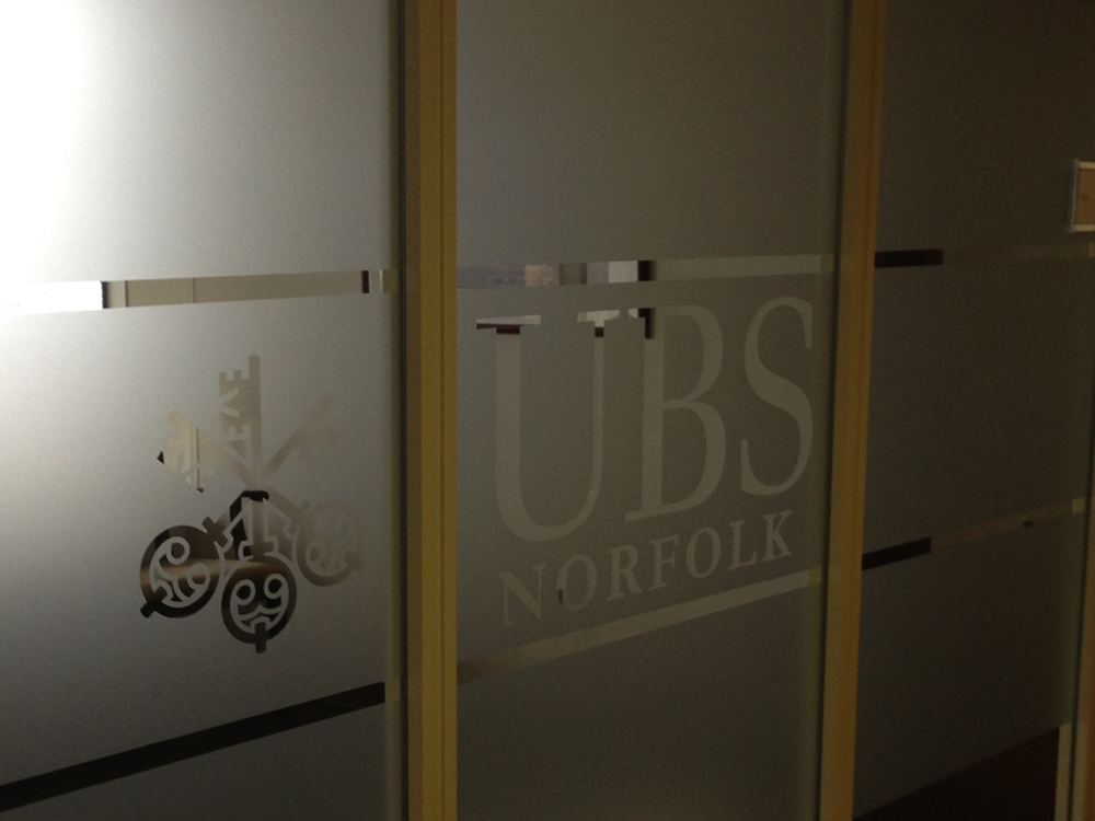 UBS Norfolk Window cling