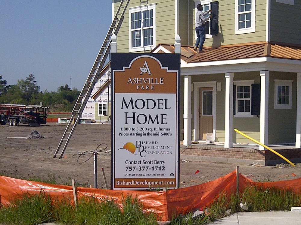site sign - Bishard Homes