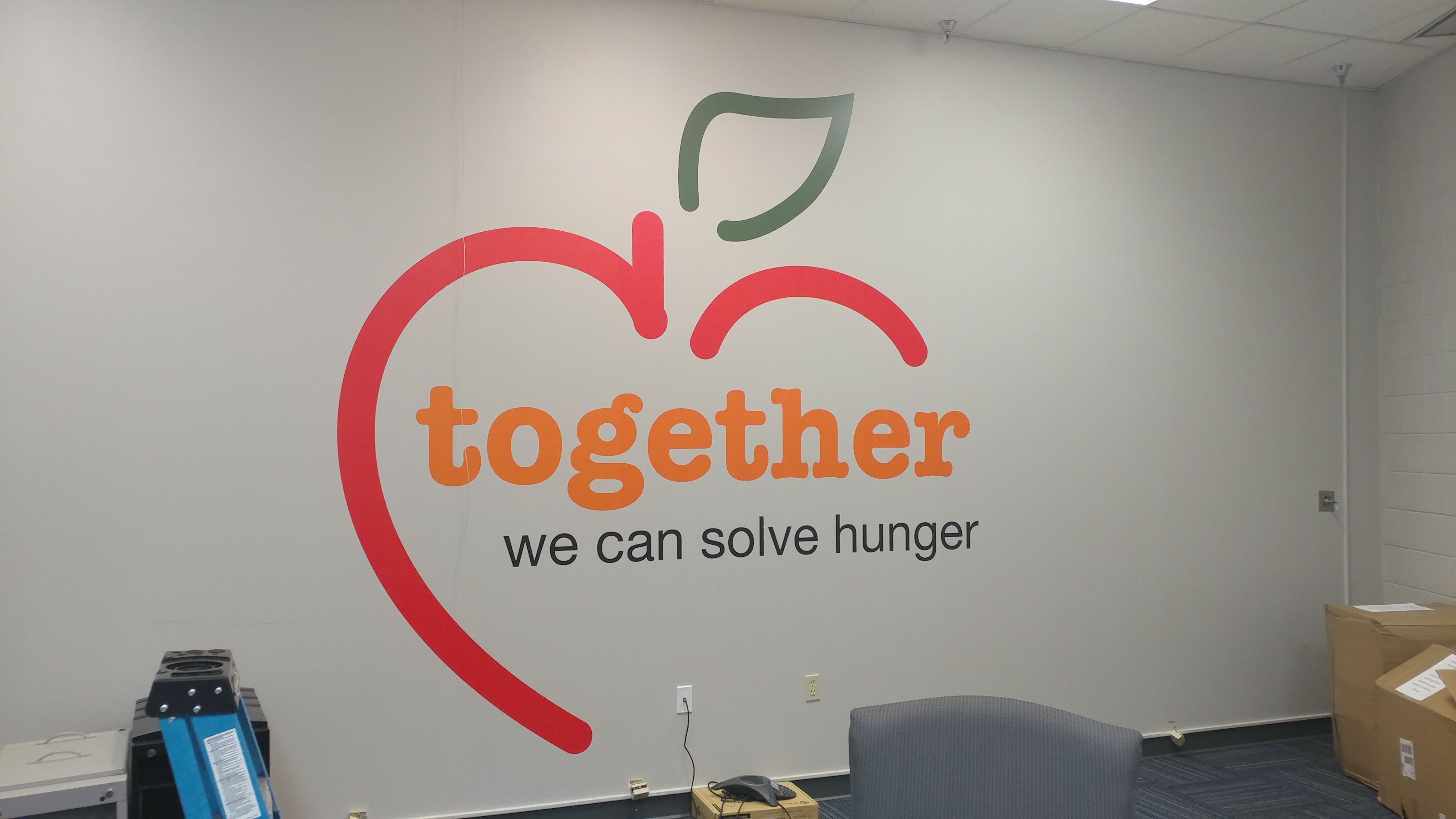 Foodbacnk wall graphics