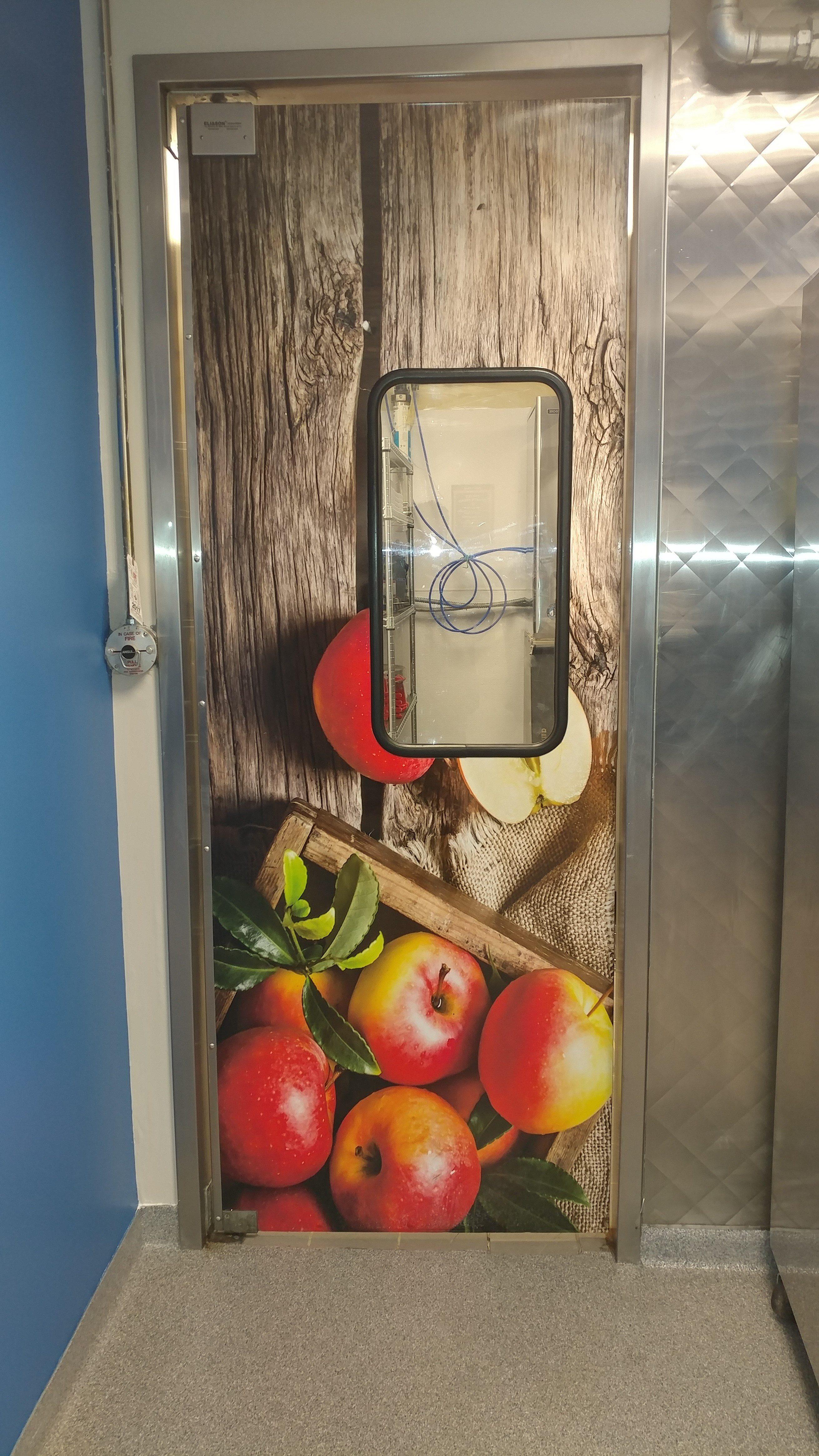 Kitchen door wrap