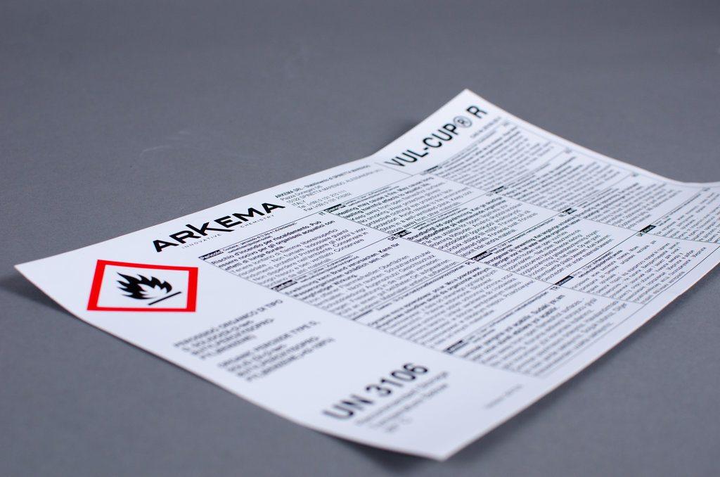 screen print chemical label