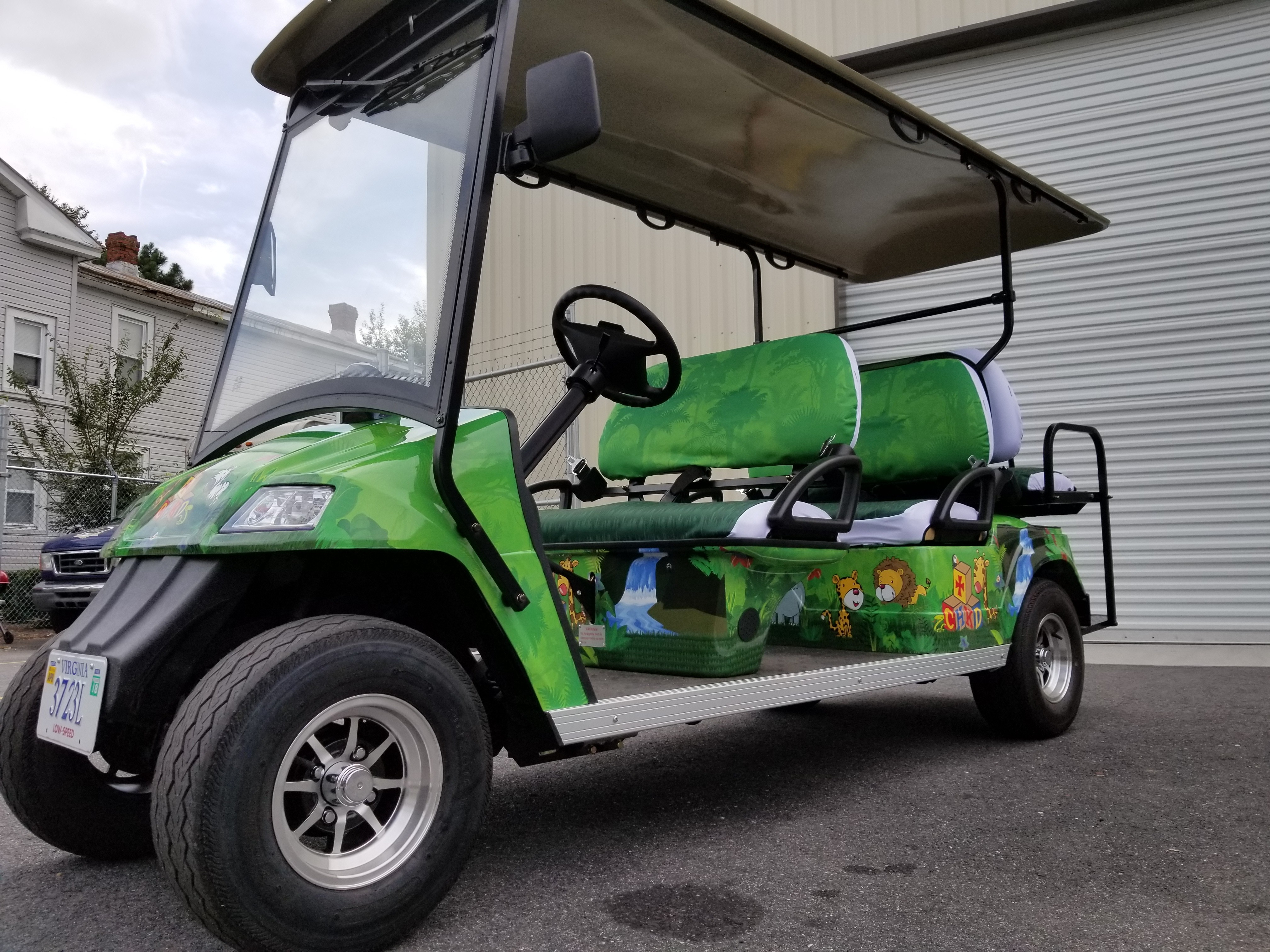 CHKD Golf Cart Wrap
