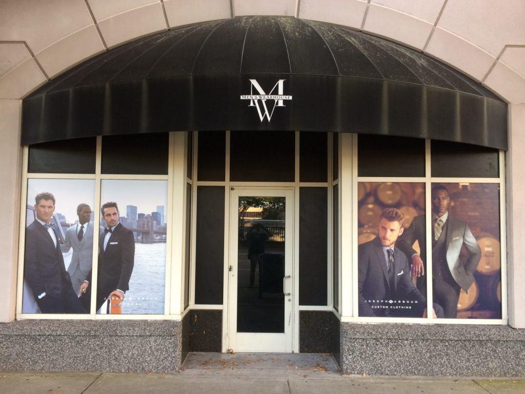 Men's Wearhouse - window graphics
