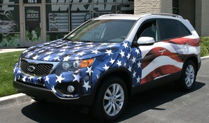 patriotic Vehicle Wrap