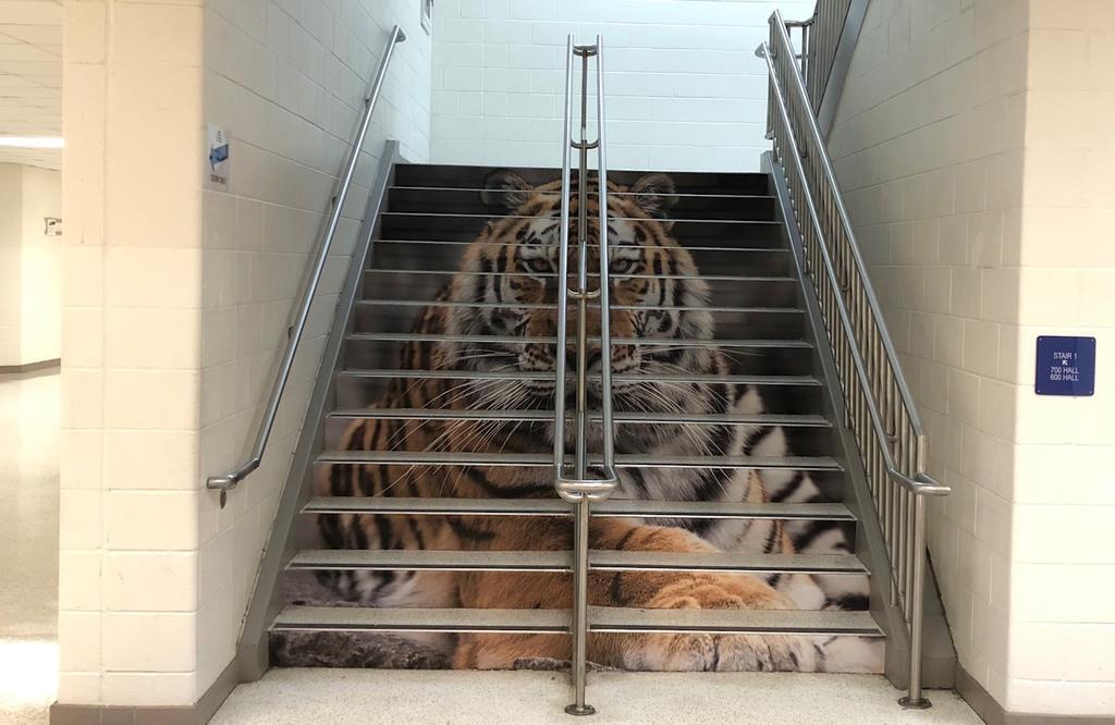 Oscar Smith Middle School - staircase wrap